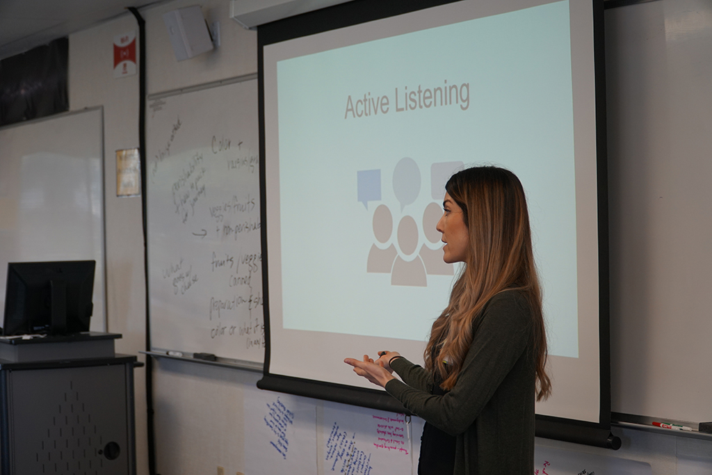 picture of Rebekah Gutierrez giving her presentation