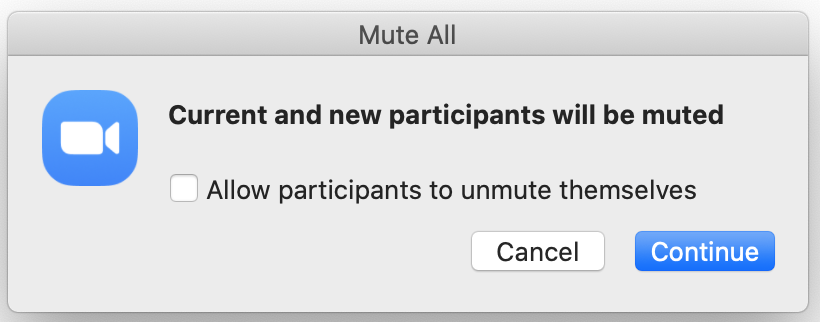 Mute all participants